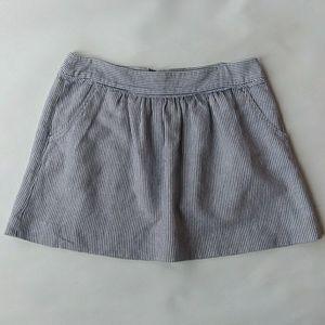 J Crew Factory Gathered Mini Skirt Size 6
